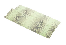 Dusty Green & Black Python Skin Clutch