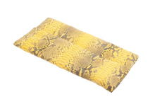 Yellow & Black Python Skin Clutch