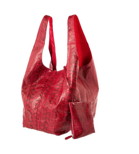 Matte Berry Water Snake Carry-All Bag