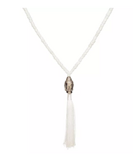 White Buddha Tassel Necklace
