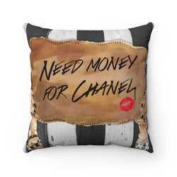 Need Chanel   Square Pillow - Studio One by Jodi Pedri