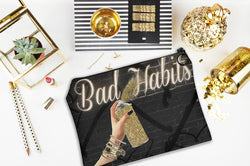 Bad Habits Accessory Pouch - Studio One by Jodi Pedri