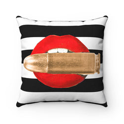 With a bullet Square Pillow - Studio One by Jodi Pedri