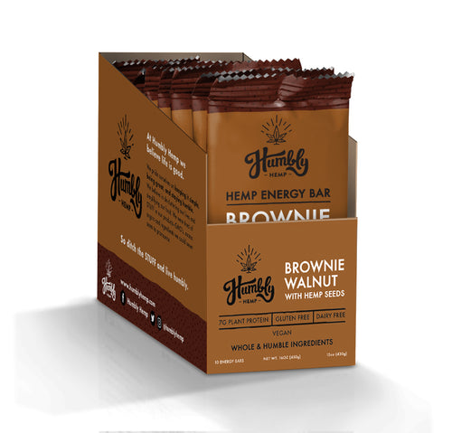 Hemp Energy Bar - Brownie Walnut (10 Bar Box)