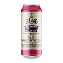 Hemp Sparkling Tea - Raspberry Hibiscus (12 Pack Case)