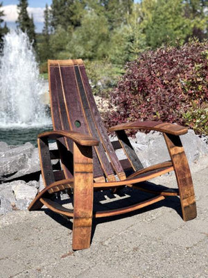 Wine Barrel Adirondack Chair Burgundyoak