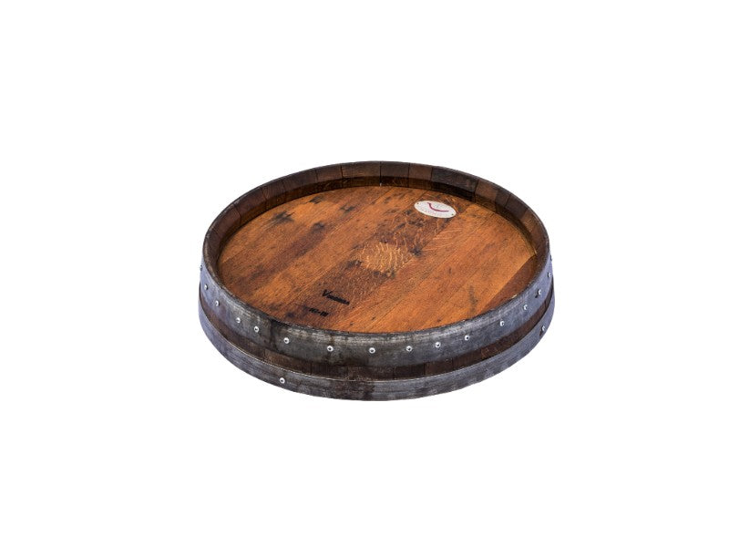 Wine Barrel Decor Barrel Head Lazy Susan Centerpiece Burgundyoak