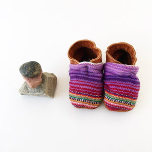 Two-Tone Mayan Moccs in Pink