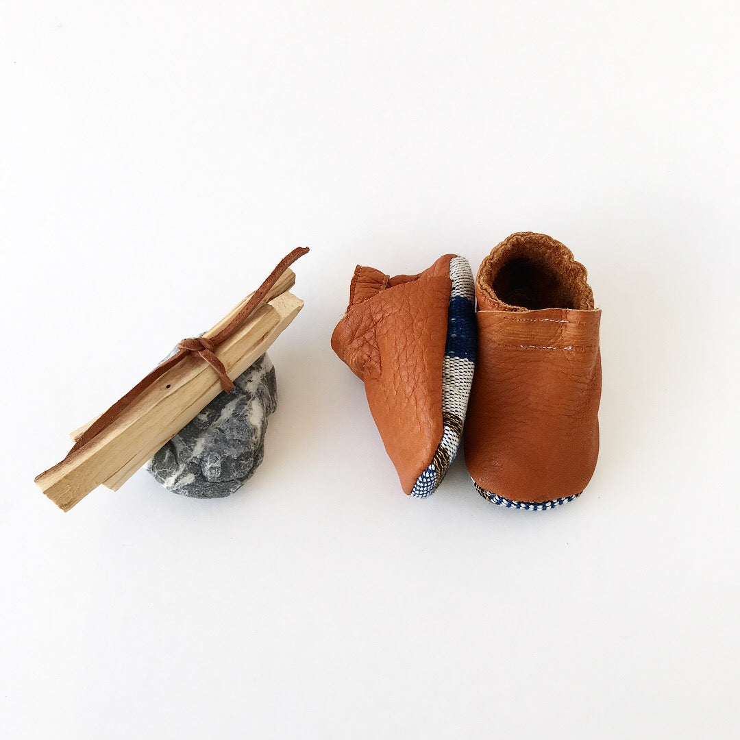 Two-Tone Mayan Moccs in Blue
