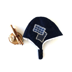 Denim Aviator Hat