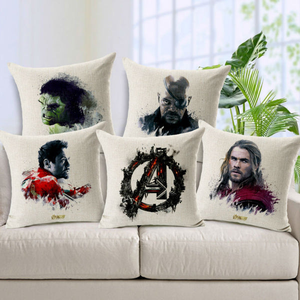 Marvel Avengers Movie Poster Cushion Cover 45x45cm