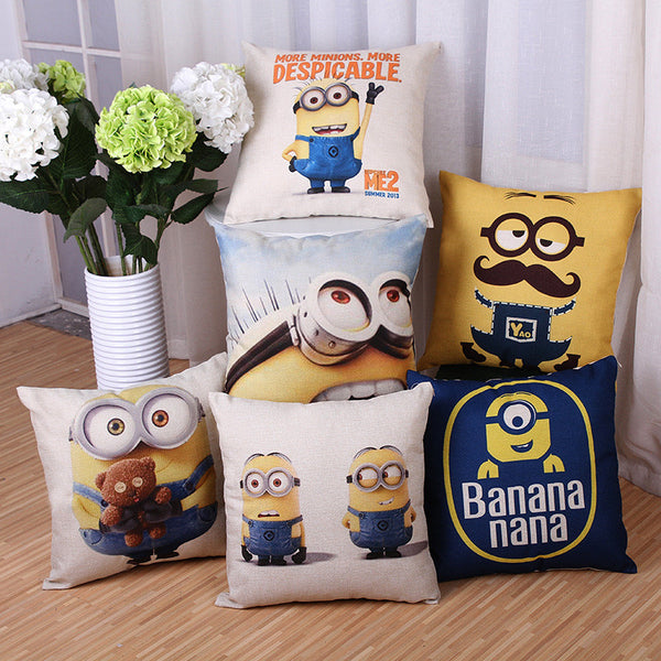 Despicable Me Minion Movie Poster Cushion Covers 45x45cm