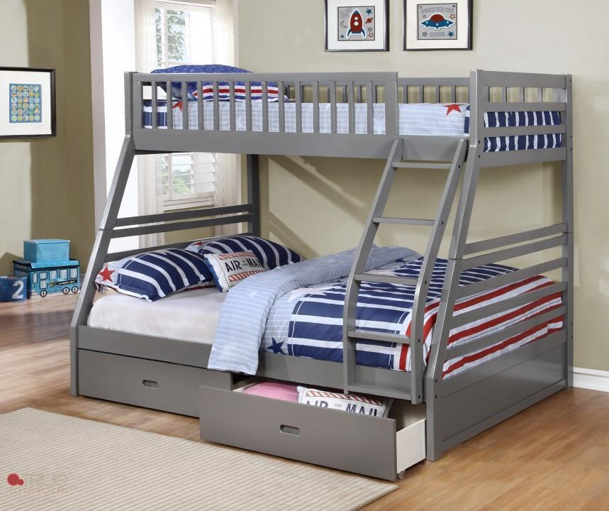 True Contemporary Fraser Grey Twin Over Full Bunk Bed Vancouver