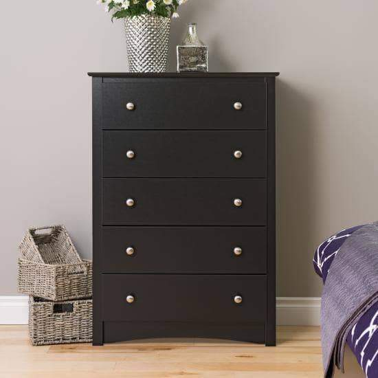 Black-Sonoma-5-Drawer-Chest