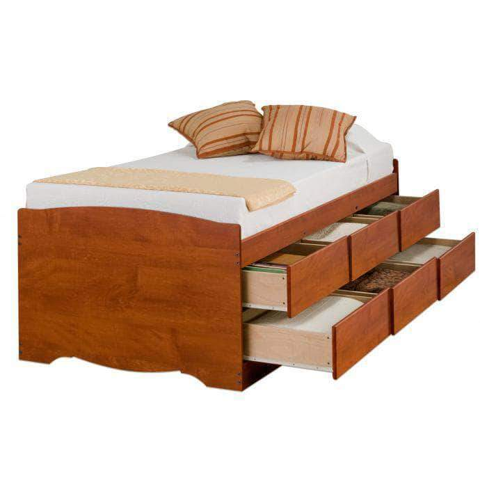 Cherry-Tall-Twin-Captains-Platform-Storage-Bed-with-6-Drawers