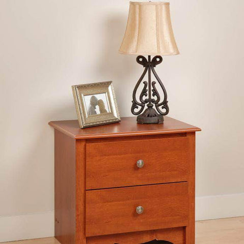 Cherry-Monterey-2-Drawer-Nightstand