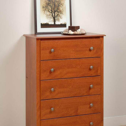 Cherry-Monterey-5-Drawer-Chest