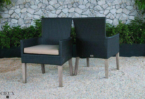 dark chocolate wicker chairs