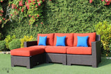 Provence Sectional with Ottoman / Glass-Top Coffee Table