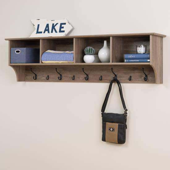 60-inch-Wide-Hanging-Entryway-Shelf-Drifted-Gray