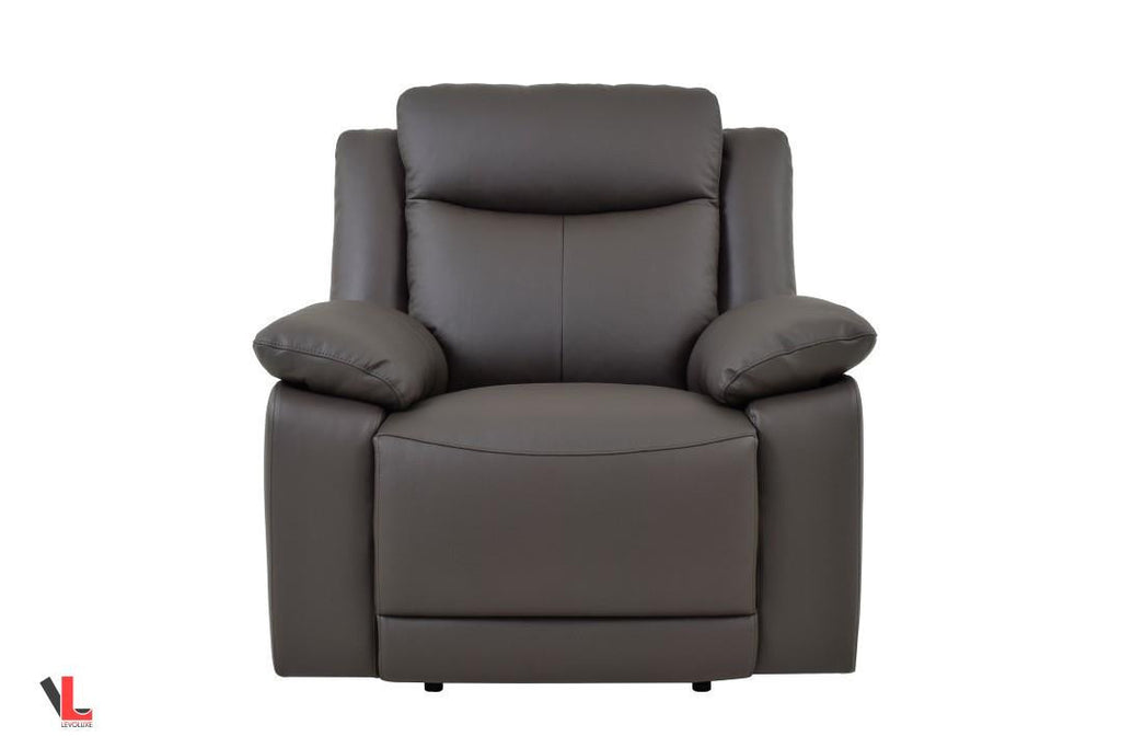 Volo Espresso Leather Reclining Chair