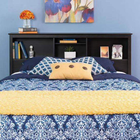 Riverdale-Double-Queen-Bookcase-Headboard-Washed-Black
