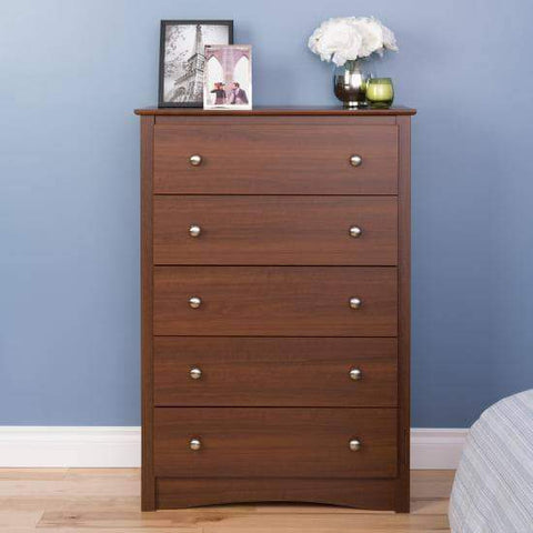 Riverdale-5-Drawer-Chest-Warm-Cherry