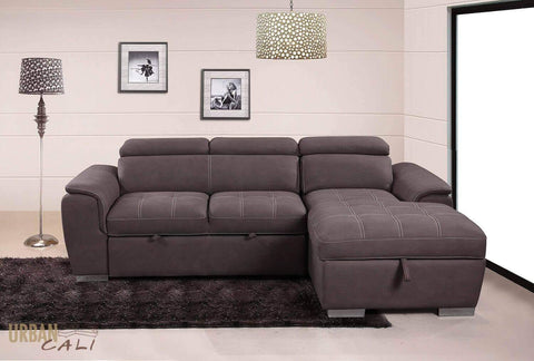 Fremont Sleeper Sectional Sofa Bed Loveseat with Storage Chaise