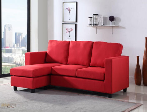 Newport Linen Small Sized Sectional with Reversible Chaise