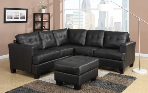 Toronto Tufted Bonded Leather Corner Sectional