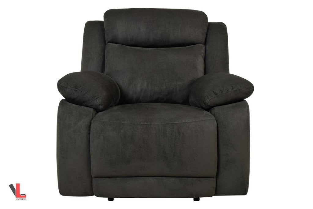 volo charcoal fabric recliner chair by levoluxe vancouver