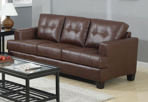 Toronto Tufted Bonded Leather Sofa