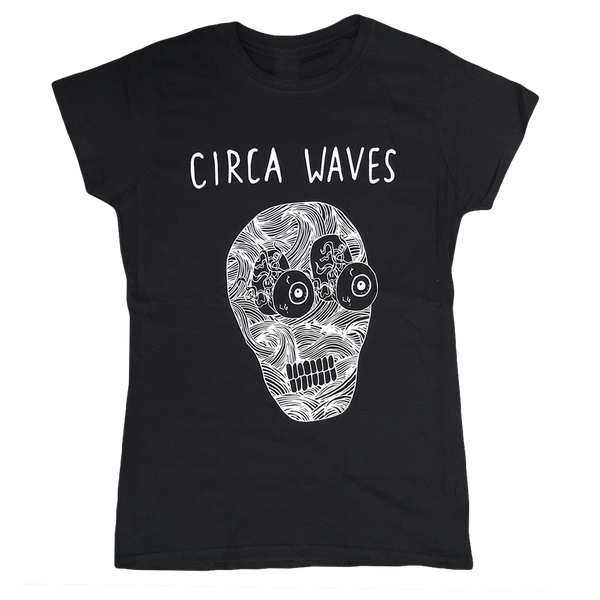 Ladies Sketchy Skull Black Tee