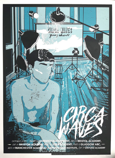 Screenprint Young Chasers UK Tour Poster
