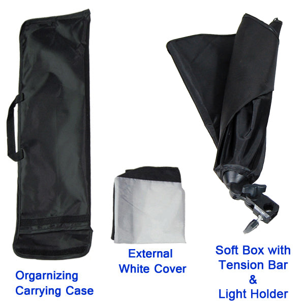 Studio Light Video Photo Softbox Photography Kit Backdrop Muslin Lighting Kit