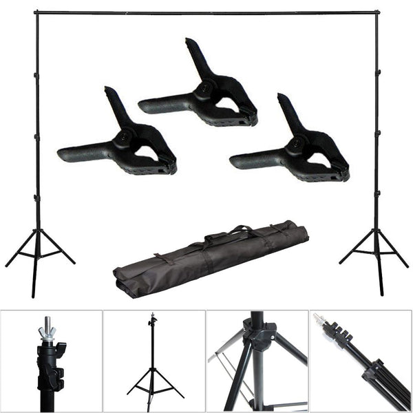 10Ft Adjustable Background Support Stand Photo Backdrop Crossbar Photo Kit