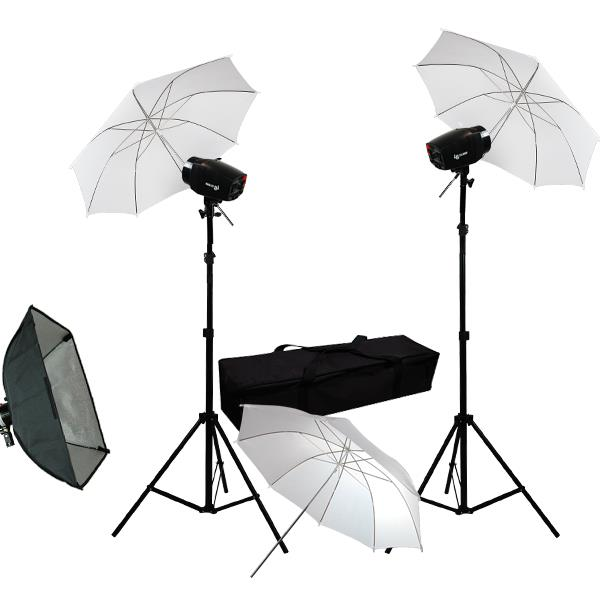 "Photography Photo studio 3 x 33"" White Umbrella Softbox Strobe Flash Light Kit"