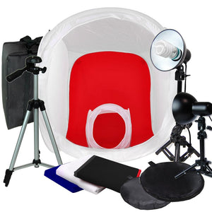 "Photography Photo Studio 30""&12"" Tent Light Backdrop Kit  Cube Lighting In A Box"