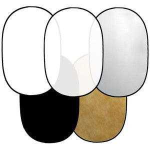 "Lusana Studio 54"" x 75"" 5-in-1 Collapsible OVAL Reflector Large Size RE09"