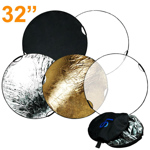 New Handheld 5 in 1 Collapsible Multi Photography Studio Easy Grip Reflector 32""