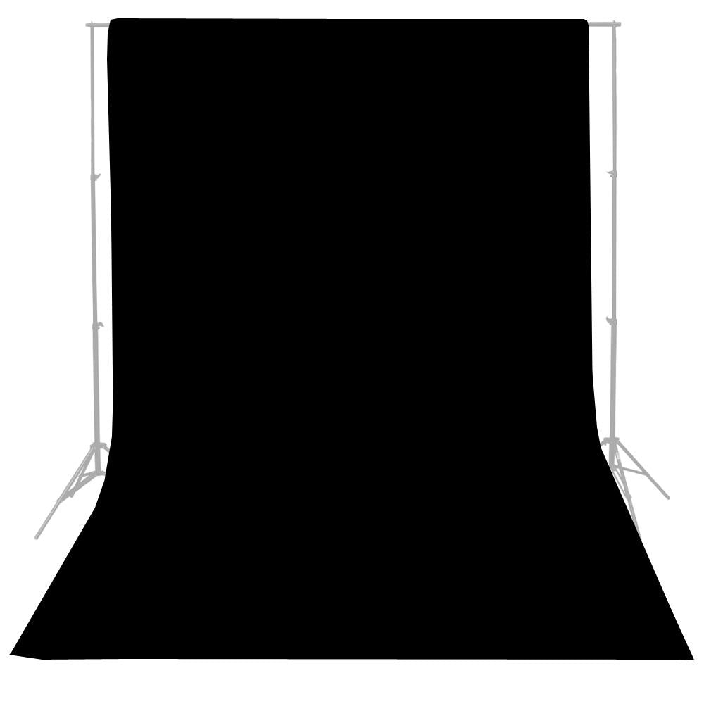 New Studio 10 x 20 Ft. Black Muslin Photo Backdrop Photography Background Lusana