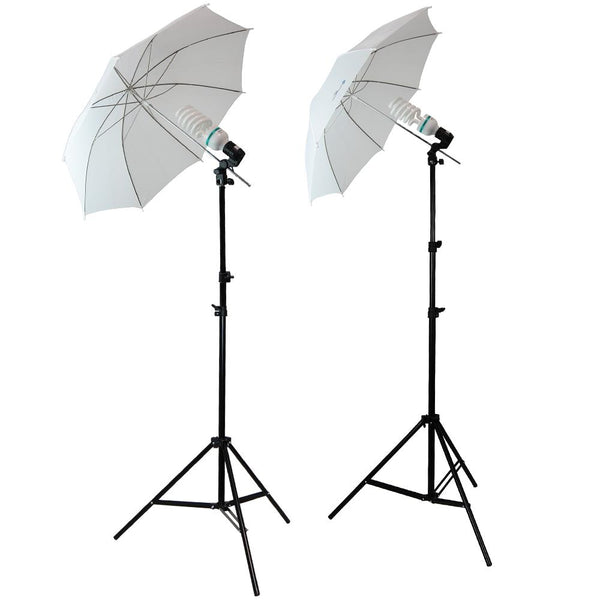 "2 x 33"" Lusana Studio White Soft Umbrella Stand Photography Lighting Kit"