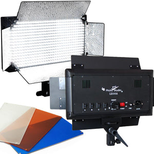 2x 500 LED Light Panels Photography Video Studio Portrait Lighting Filter Dimmer