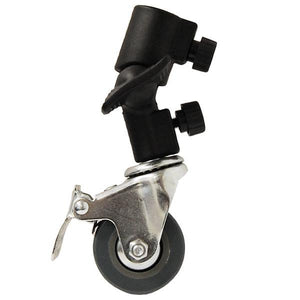 Lusana Studio Heavy Duty Swivel Caster Wheel For Light Stands & Studio Boom