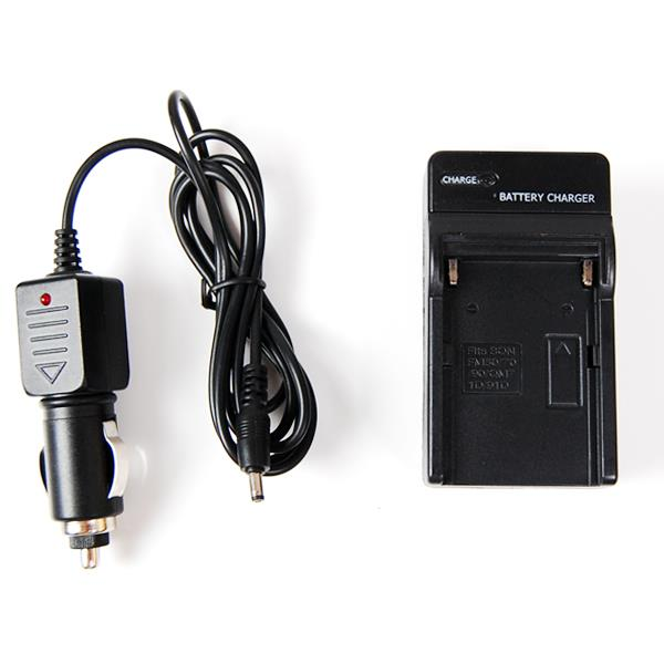 Lusana Studio NP-F550 Battery Car Charger for Digital Camera Camcorder New LED