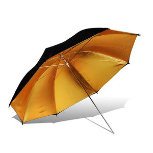 "Lusana Studio Black/Gold Reflector Photography 33"" Umbrella for Camera Speedlite"