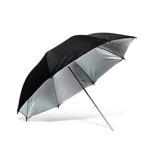 "Lusana Studio Black/Silver Reflector Photography 40"" Umbrella Camera Speedlite"