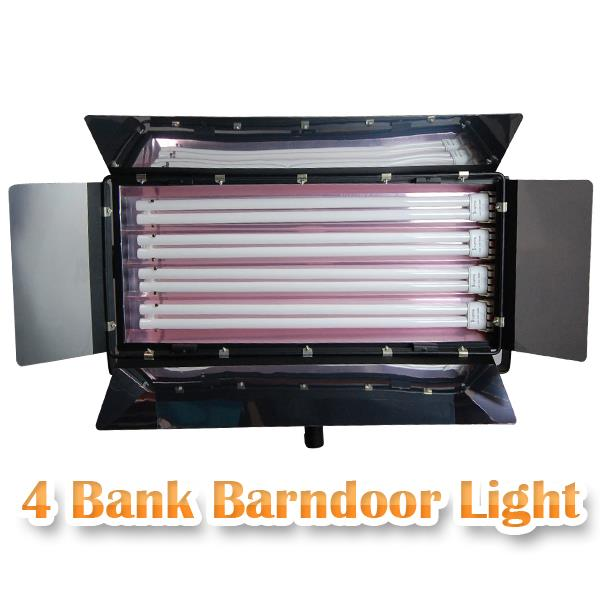 4-Bank Barndoor Light Panel Photo Lamp Digital Light Fluroescent Lighting