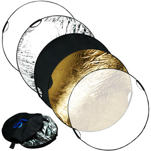 "Handheld 43"" 5in1 Light Multi Collapsible Photo Reflector Grip Disc Panel PPH16"