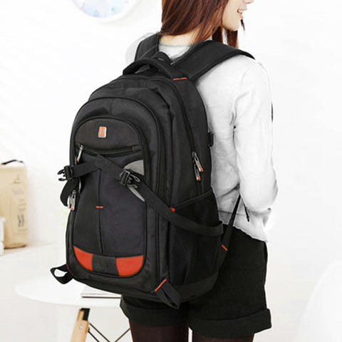 "Laptop Backpack 17"" Black Bag Shoulder Bag Outdoor School Travel Business"